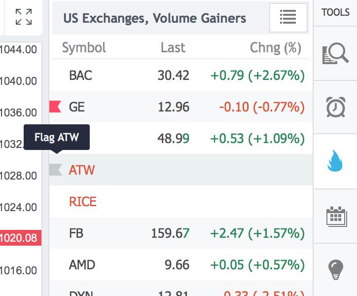 Introducing Flagged Symbols – TradingView Blog