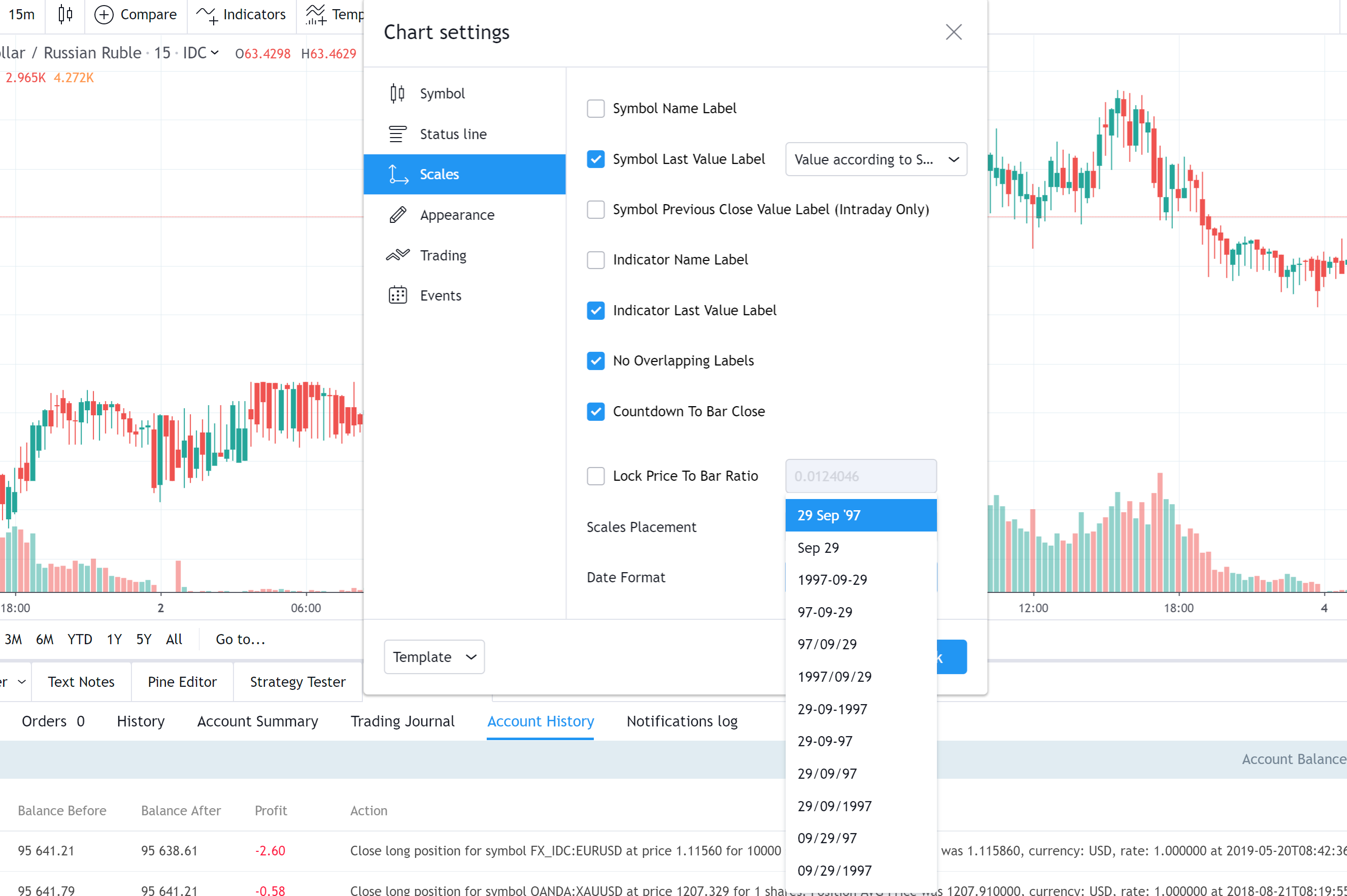Introducing Date Format Selection Tradingview Blog